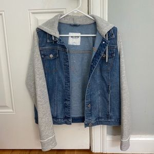 Oversized jean jacket sweatshirt